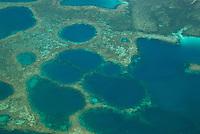 Aerial of reef texture, Palau Micronesia