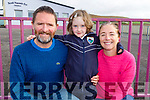 Lily McDonnell on her first day in Glenderry NS on Tuesday with her parents Terry and Sinead McDonnell.
