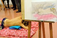 Scuola di nudo.School of Naked art painting.L' Università popolare di Roma si occupa della formazione permanente degli adulti. Fondata il 30 marzo 1987.Popular University of Rome is responsible for the adults education.Founded March 30 1987...