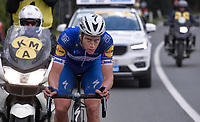 A focused Niki Terpstra (NED/Quick-Step Floors) is almost sure of a Ronde win with just a few kilometers to go<br /> <br /> 102nd Ronde van Vlaanderen 2018 (1.UWT)<br /> Antwerpen - Oudenaarde (BEL): 265km