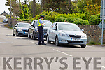 Garda checkpoint on the approach road to Fenit beach on Sunday morning.