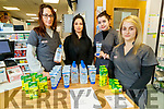 Staff at Shines Pharmacy at the Horan centre have a DIY hand sanitiser option, from left: AIne Kelliher, Breffni Stack, Mary O'Connor and Denise Crickard.