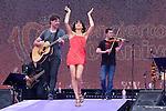 02.06.2012. El Sueño de Morfeo performs during in the ´Cadena 100´ 20 th anniversary Concert at the stadium Vicente Calderon in Madrid. In the image:   El Sueño de Morfeo (Alterphotos/Marta Gonzalez)