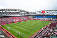 KASHIMA, JAPAN - JULY 27: General view inside the Ibaraki Kashima Stadium before a game between USWNT and Australia at Ibaraki Kashima Stadium on July 27, 2021 in Kashima, Japan.