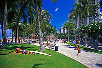 The newly renovated Waikiki Historic Trail noting points of Hawaiian history and culture attracts visitors and locals alike.