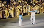 Sochi, RUSSIA - Mar 7 2014 -  The Paralympic flame enters Fisht Stadium during the Opening Ceremonies of the Sochi 2014 Paralympic Winter Games in Sochi, Russia.  (Photo: Matthew Murnaghan/Canadian Paralympic Committee)