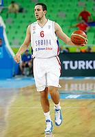 Vasilije Micic of Serbia in action during European basketball championship Eurobasket 2013, round 2, group E  basketball game between Serbia and France in Stozice Arena in Ljubljana, Slovenia, on September 15. 2013. (credit: Pedja Milosavljevic  / thepedja@gmail.com / +381641260959)