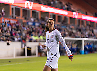 HOUSTON, TX - JANUARY 31: Tobin Heath #17 of the United States walks to the corner during a game between Panama and USWNT at BBVA Stadium on January 31, 2020 in Houston, Texas.