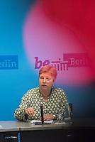 Auf der Senatspressekonferenz am Dienstag den 18. Juni 2019 stellte die Senatorin fuer Stadtentwicklung und Wohnen, Katrin Lompscher (im Bild) den ab Januar 2020 geplanten Mietendeckel vor. Fuer die Mieterinnen sollen die Mieten durch die Deckelung der Miete fuer fuenf Jahre nicht mehr steigen.<br /> 18.6.2019, Berlin<br /> Copyright: Christian-Ditsch.de<br /> [Inhaltsveraendernde Manipulation des Fotos nur nach ausdruecklicher Genehmigung des Fotografen. Vereinbarungen ueber Abtretung von Persoenlichkeitsrechten/Model Release der abgebildeten Person/Personen liegen nicht vor. NO MODEL RELEASE! Nur fuer Redaktionelle Zwecke. Don't publish without copyright Christian-Ditsch.de, Veroeffentlichung nur mit Fotografennennung, sowie gegen Honorar, MwSt. und Beleg. Konto: I N G - D i B a, IBAN DE58500105175400192269, BIC INGDDEFFXXX, Kontakt: post@christian-ditsch.de<br /> Bei der Bearbeitung der Dateiinformationen darf die Urheberkennzeichnung in den EXIF- und  IPTC-Daten nicht entfernt werden, diese sind in digitalen Medien nach §95c UrhG rechtlich geschuetzt. Der Urhebervermerk wird gemaess §13 UrhG verlangt.]