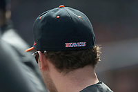 A detailed image of the back of an Oregon State Beavers baseball hat during a game against the New Mexico Lobos on February 15, 2019 at Surprise Stadium in Surprise, Arizona. Oregon State defeated New Mexico 6-5. (Zachary Lucy/Four Seam Images)