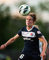 Sky Blue FC midfielder Sophie Schmidt (16). The Western New York Flash defeated Sky Blue FC 3-0 during a National Women's Soccer League (NWSL) match at Yurcak Field in Piscataway, NJ, on June 8, 2013.