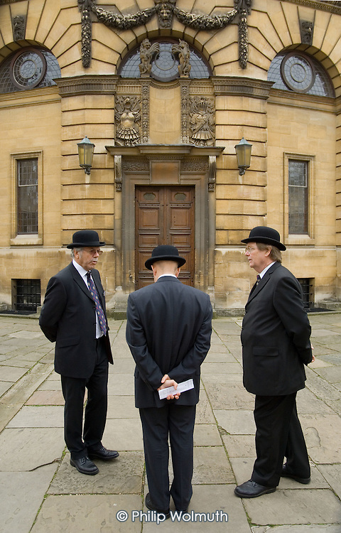 Officials from the Assistant Proctor's Office, responsible for maintaining discipline at Oxford University