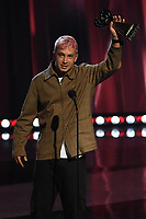 """HOLLYWOOD, CA - MAY 27: Tyler Joseph of Twenty One Pilots accepts Alternative Rock Song & Artist of the Year Award at the 2021 """"iHeartRadio Music Awards"""" airing live from The Dolby Theatre in Los Angeles, Thursday, May 27 (8:00-10:00 PM ET live / PT tape-delayed) on FOX.  (Photo by Frank Micelotta/FOX/PictureGroup)"""