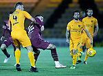 Livingston v St Johnstone…31.10.18…   Tony Macaroni Arena    SPFL<br />Alan Lithgow gets to grips with Tony Watt<br />Picture by Graeme Hart. <br />Copyright Perthshire Picture Agency<br />Tel: 01738 623350  Mobile: 07990 594431