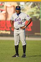 Kingsport Mets pitching coach Jonathan Hurst #30 at Burlington Athletic Park July 3, 2009 in Burlington, North Carolina. (Photo by Brian Westerholt / Four Seam Images)