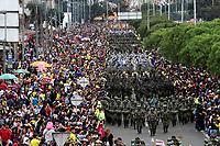 BOGOTÁ - COLOMBIA, 20-07-2018:Ejército Nacional.Desfile Militar por la Avenida 68 de la capital , durante el 208 Aniversario del Día de la Independiencia Nacional ./Military Parade through Avenida 68 in the capital, during the 208th Anniversary of National Independence Day. Photo: VizzorImage / Felipe Caicedo / Satff