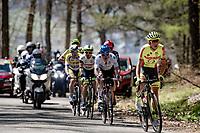 breakaway group up the Côte de Wanne<br /> <br /> 107th Liège-Bastogne-Liège 2021 (1.UWT)<br /> 1 day race from Liège to Liège (259km)<br /> <br /> ©kramon
