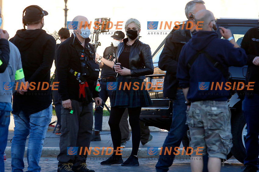 Actress Pom Klementieff on the set of the film Mission Impossible 7 at Imperial Fora in Rome. <br /> Rome (Italy), November 21st 2020<br /> Photo Samantha Zucchi Insidefoto