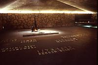ISRAELE, Gerusalemme. Una sala del Museo Yad Vashem o Museo dell'Olocausto.