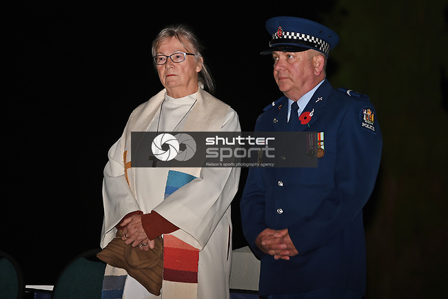 NELSON, NEW ZEALAND -2021 ANZAC Day Service in Motueka, Nelson. New Zealand. Sunday 25 April 2021. (Photo by Chris Symes/Shuttersport Limited)