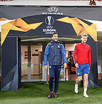 07.11.18 Rangers training at the Spartak Stadium, Moscow: Connor Goldson and Joe Worrall
