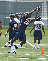 Virginia wide receiver Tim Smith during open spring practice for the Virginia Cavaliers football team August 7, 2009 at the University of Virginia in Charlottesville, VA. Photo/Andrew Shurtleff