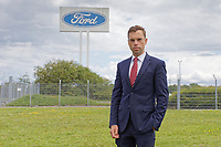 Pictured: Assembly Member Ken SKate outside the Ford engine plant in Bridgend, Wales, UK. Thursday 06 June 2019<br /> Re: An announcement on the proposed closure of Ford's Bridgend plant will be made today (Thursday).<br /> Ford Europe and bosses from the United States will meet union leaders at its Essex headquarters.<br /> The plant employs 1,700 workers from across south Wales.