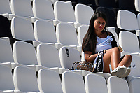 A woman on the stands during the Serie A football match between Spezia Calcio and Udinese Calcio at Alberto Picco stadium in La Spezia (Italy), September 12th, 2021. Photo Andrea Staccioli / Insidefoto