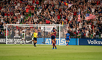 AUSTIN, TX - JUNE 16: Lynn Williams #6 of the USWNT celebrates with Christen Press #23 during a game between Nigeria and USWNT at Q2 Stadium on June 16, 2021 in Austin, Texas.