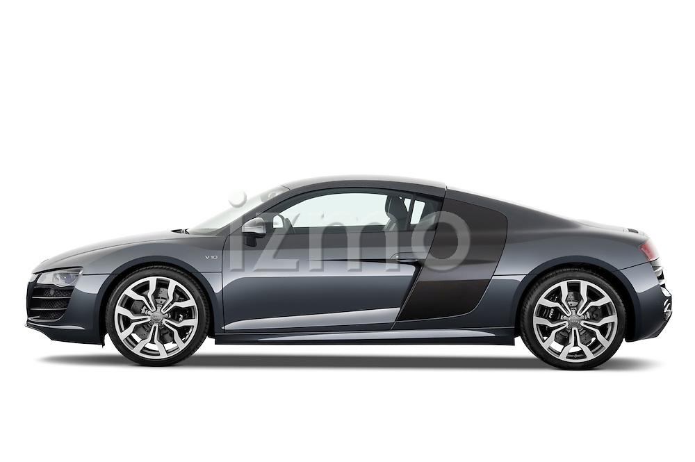 Driver Side Profile View of 2012 Audi R8 V10 FSI Stock Photo