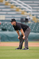 Umpire Steven Birnburg during a Florida State League game between the Palm Beach Cardinals and Bradenton Marauders on May 10, 2019 at LECOM Park in Bradenton, Florida.  Bradenton defeated Palm Beach 5-1.  (Mike Janes/Four Seam Images)