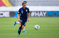 GUADALAJARA, MEXICO - MARCH 28: Djordje Mihailovic #8 of the United States chases down a loose ball during a game between Honduras and USMNT U-23 at Estadio Jalisco on March 28, 2021 in Guadalajara, Mexico.
