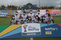 BOGOTA -COLOMBIA,19-10-2020:Fortaleza.La Equidad y Fortaleza CEIF en partido por la fecha 1 de la Liga femeina BetPlay DIMAYOR I 2020 jugado en el estadio Metropoltano de Techo  de la ciudad de Bogotá. /La  Equidad and Fortaleza CEIF  in match for the date 1 BetPlay DIMAYOR women´s  League I 2020 played at Metropolitano stadium in Bogota city. Photo: VizzorImage/ Felipe Caicedo / Staff