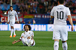 Real Madrid´s Marcelo Vieira during quarterfinal first leg Champions League soccer match at Vicente Calderon stadium in Madrid, Spain. April 14, 2015. (ALTERPHOTOS/Victor Blanco)