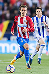 Antoine Griezmann of Atletico de Madrid in action during their La Liga match between Atletico de Madrid vs Real Sociedad at the Vicente Calderon Stadium on 04 April 2017 in Madrid, Spain. Photo by Diego Gonzalez Souto / Power Sport Images