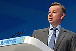 © Joel Goodman - 07973 332324  . 04/10/2011 . Manchester, UK . MICHAEL GOVE speaks at the 2011 Conservative Party Conference at the Manchester Central Convention Centre (formerly GMex) . Photo credit: Joel Goodman