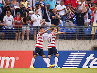 Landon Donovan, Joe Corona.  The United States defeated El Salvador, 5-1, during the quarterfinals of the CONCACAF Gold Cup at M&T Bank Stadium in Baltimore, MD.