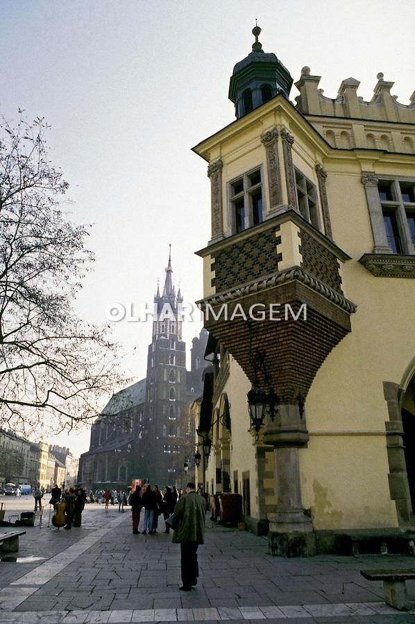 Arquitetura da cdade de Cracóvia. Polônia. 1994. Foto de João Caldas.