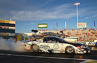 May 31, 2013; Englishtown, NJ, USA: NHRA pro stock driver Vincent Nobile during qualifying for the Summer Nationals at Raceway Park. Mandatory Credit: Mark J. Rebilas-