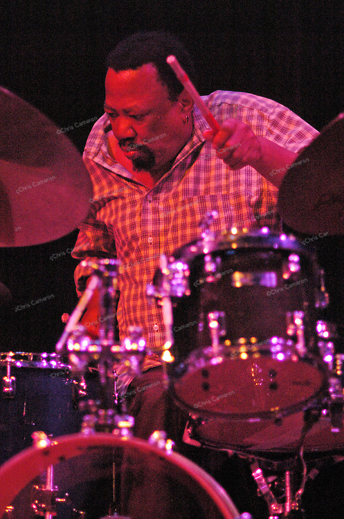 Louis Moholo, playing with Evan Parker at Vancouver East Cultural Centre, June 30
