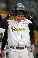 8 April 2007: University of Vermont Catamounts outfielder Will Huntington, a Senior from Montville, CT, in action against the New York Institute of Technology Bears at Historic Centennial Field, in Burlington, Vermont. The Bears defeated the Catamounts 3-0 in the first game of a double-header...Mandatory Photo Credit: Ed Wolfstein Photo