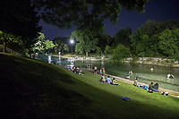 Austinites display a passion for night swimming at Barton Springs Pool, a fun and adrenalin pumping event and best of all, free admission after 9 p.m. in downtown Austin, Texas.