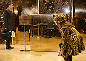 Activities in the lobby of the Trump Tower, while United States President-elect Donald Trump holds meetings on top floors of the building, November 21, 2016, in New York, New York.<br /> Credit: Aude Guerrucci / Pool via CNP