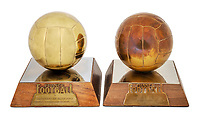 BNPS.co.uk (01202 558833)<br /> Pic: Julien'sAuctions/BNPS<br /> <br /> Pictured: Alfredo Di Stefano Paris, France, Ballon D'Or Awards.<br /> <br /> An epic collection of medals, trophies, shirts and personal items relating to footballing legend Alfredo Di Stefano is being sold by his family for over £1m.<br /> <br /> Many of the awards won by the great goalscorer have, until recently, been on display at the Real Madrid Museum, the club where he played for most of his career.<br /> <br /> The Argentine-born striker is regarded as one of the best players of all-time and is often compared to Cristiano Ronaldo.<br /> <br /> During Di Stafano's time with Real Madrid in the 1950s and '60s, the Spanish giants dominated European football, largely due to his goals and assists.