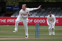 Simon Harmer in bowling action for Essex during Essex CCC vs Durham CCC, LV Insurance County Championship Group 1 Cricket at The Cloudfm County Ground on 15th April 2021