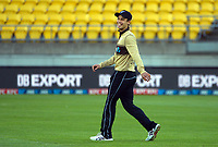 NZ's Mark Chapman during the third international men's T20 cricket match between the New Zealand Black Capss and Australia at Sky Stadium in Wellington, New Zealand on Wednesday, 3 March 2021. Photo: Dave Lintott / lintottphoto.co.nz