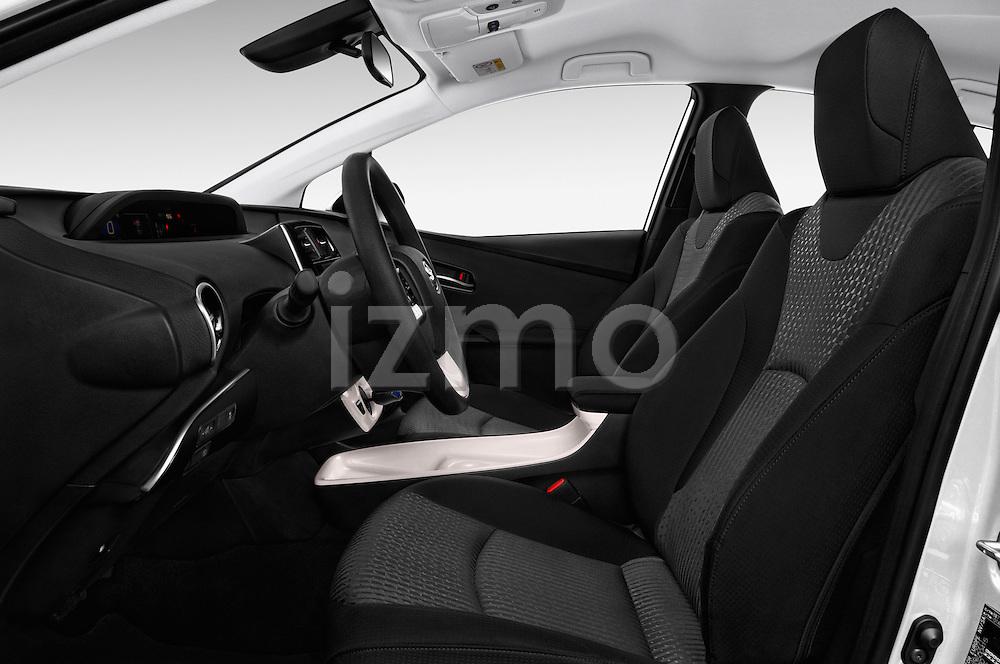 Front seat view of 2016 Toyota Prius Comfort 5 Door Hatchback Front Seat  car photos