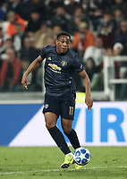 Football Soccer: UEFA Champions League -Group Stage-  Group H - Juventus vs Manchester United, Allianz Stadium. Turin, Italy, November 07, 2018.<br /> Manchester United's Anthony Martial in action during the Uefa Champions League football soccer match between Juventus and Manchester United at Allianz Stadium in Turin, November 07, 2018.<br /> UPDATE IMAGES PRESS