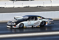 Feb. 17, 2013; Pomona, CA, USA; NHRA pro stock driver Vincent Nobile during the Winternationals at Auto Club Raceway at Pomona. Mandatory Credit: Mark J. Rebilas-