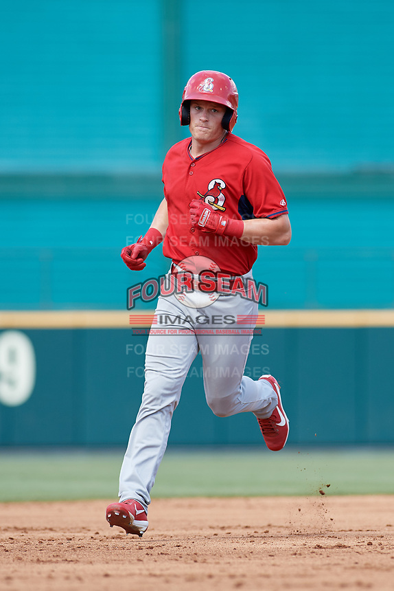 Springfield Cardinals Conner Capel (12) during a Texas League game against the Frisco RoughRiders on May 5, 2019 at Dr. Pepper Ballpark in Frisco, Texas.  Springfield defeated Frisco 8-6.  (Mike Augustin/Four Seam Images)